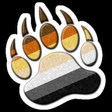 2903 Gay Bear Pride Paw