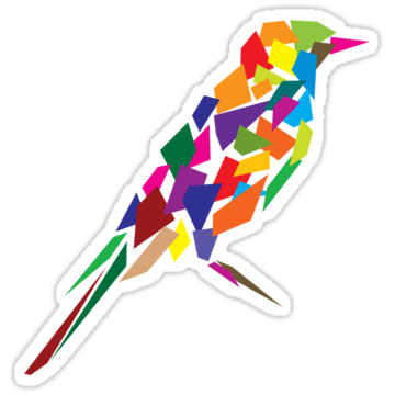 2983 Colorful Abstract Bird