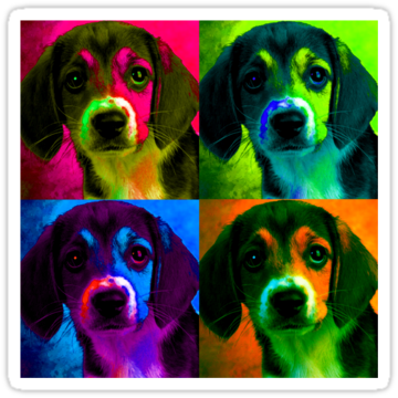 3025 Beagle Pop Art