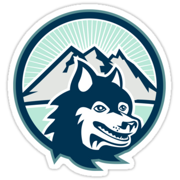 3069 Siberian Husky Dog Head Mountain Retro