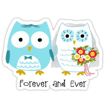 3115 Owls Wedding Bride and Groom