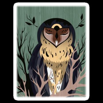 3137 Wooden Owl