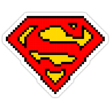 3281 Superman Pixels Logo