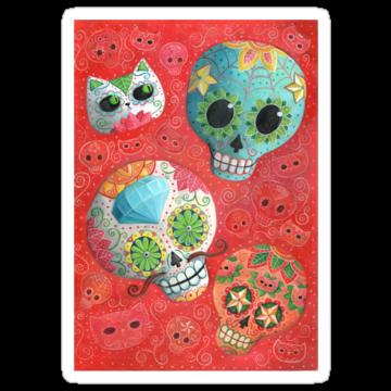5171 Colourful Sugar Skulls