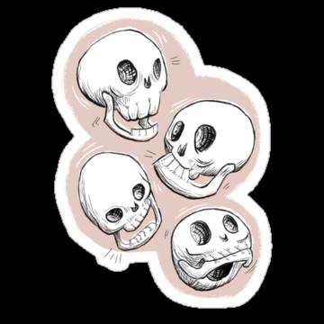 5183 Four Skulls in Pastel Pink