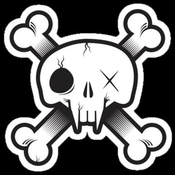 5216 Modern Pirate Skull