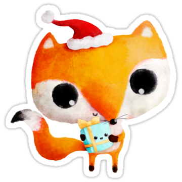 5285 Cute Christmas Fox