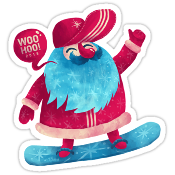 5343 Snowboarding Santa