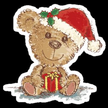5346 Teddy bear at Christmas
