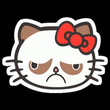 Hell No Kitty Grumpy Cat