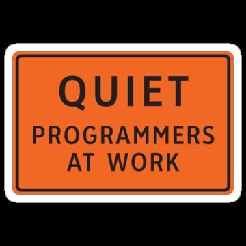 Quiet - Programmers At Work