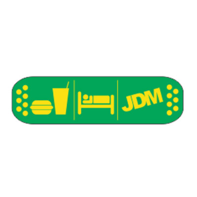 Eat Sleep JDM 15x4 green