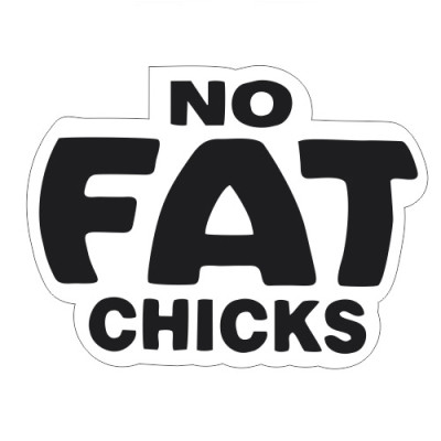 No fat chicks 20x15