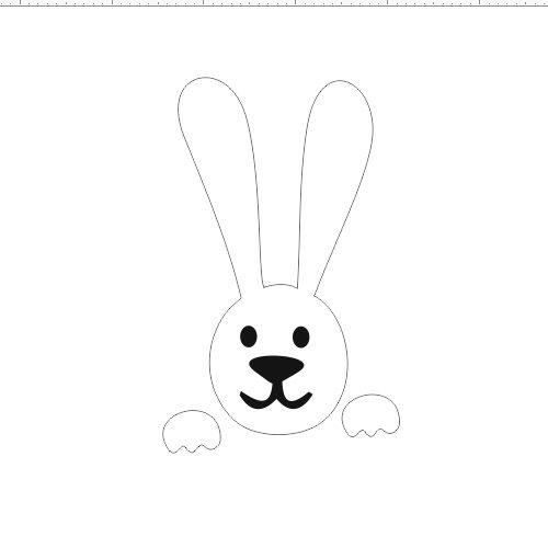 Заяц 3 белый 15x9