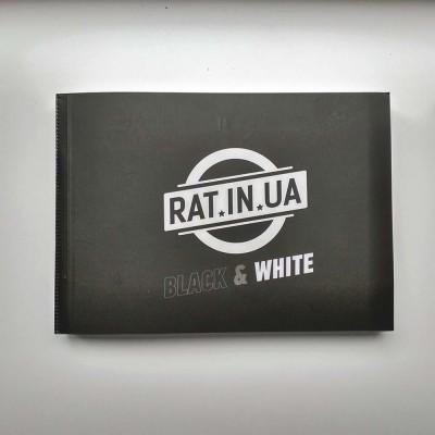 Стикербук черно белый прочные стикеры