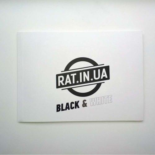 Стикербук черно белый прочные стикеры для урбана
