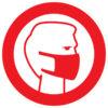 Вход в маске стикер наклейка